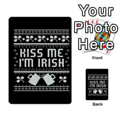 Kiss Me I m Irish Ugly Christmas Black Background Multi Purpose Cards (rectangle)  by Onesevenart