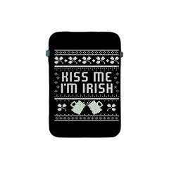Kiss Me I m Irish Ugly Christmas Black Background Apple Ipad Mini Protective Soft Cases by Onesevenart