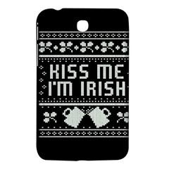 Kiss Me I m Irish Ugly Christmas Black Background Samsung Galaxy Tab 3 (7 ) P3200 Hardshell Case  by Onesevenart