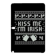 Kiss Me I m Irish Ugly Christmas Black Background Samsung Galaxy Tab Pro 10 1 Hardshell Case by Onesevenart