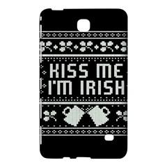 Kiss Me I m Irish Ugly Christmas Black Background Samsung Galaxy Tab 4 (7 ) Hardshell Case  by Onesevenart