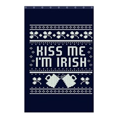 Kiss Me I m Irish Ugly Christmas Blue Background Shower Curtain 48  X 72  (small)  by Onesevenart
