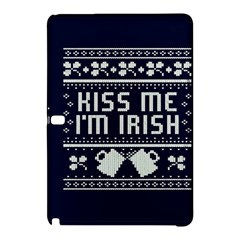 Kiss Me I m Irish Ugly Christmas Blue Background Samsung Galaxy Tab Pro 10 1 Hardshell Case by Onesevenart