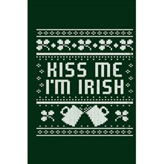 Kiss Me I m Irish Ugly Christmas Green Background 5 5  X 8 5  Notebooks by Onesevenart