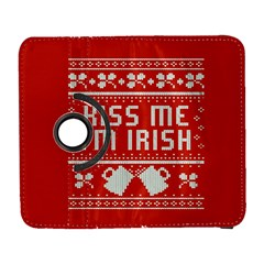 Kiss Me I m Irish Ugly Christmas Red Background Samsung Galaxy S  Iii Flip 360 Case by Onesevenart
