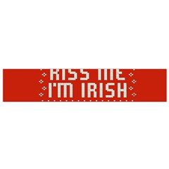 Kiss Me I m Irish Ugly Christmas Red Background Flano Scarf (small) by Onesevenart