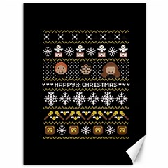 Merry Nerdmas! Ugly Christma Black Background Canvas 36  X 48   by Onesevenart