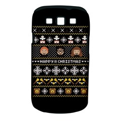 Merry Nerdmas! Ugly Christma Black Background Samsung Galaxy S Iii Classic Hardshell Case (pc+silicone) by Onesevenart