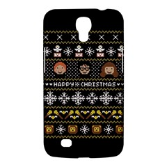 Merry Nerdmas! Ugly Christma Black Background Samsung Galaxy Mega 6 3  I9200 Hardshell Case by Onesevenart