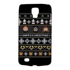 Merry Nerdmas! Ugly Christma Black Background Galaxy S4 Active by Onesevenart
