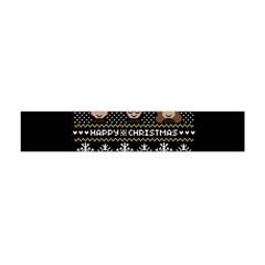 Merry Nerdmas! Ugly Christma Black Background Flano Scarf (mini) by Onesevenart