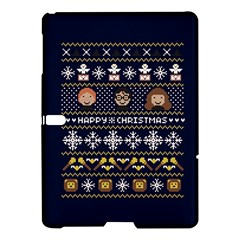 Merry Nerdmas! Ugly Christmas Blue Background Samsung Galaxy Tab S (10 5 ) Hardshell Case  by Onesevenart