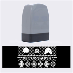 Merry Nerdmas! Ugly Christma Green Background Name Stamps by Onesevenart