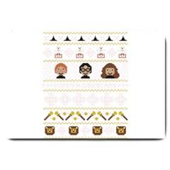 Merry Nerdmas! Ugly Christmas Large Doormat  by Onesevenart