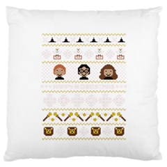 Merry Nerdmas! Ugly Christmas Large Flano Cushion Case (one Side) by Onesevenart