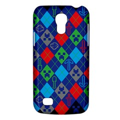 Minecraft Ugly Holiday Christmas Blue Background Galaxy S4 Mini by Onesevenart