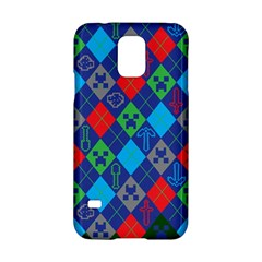 Minecraft Ugly Holiday Christmas Green Background Samsung Galaxy S5 Hardshell Case  by Onesevenart