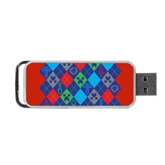 Minecraft Ugly Holiday Christmas Red Background Portable Usb Flash (two Sides) by Onesevenart