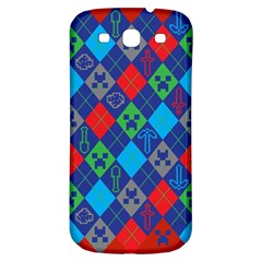 Minecraft Ugly Holiday Christmas Red Background Samsung Galaxy S3 S Iii Classic Hardshell Back Case by Onesevenart