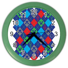 Minecraft Ugly Holiday Christmas Color Wall Clocks by Onesevenart