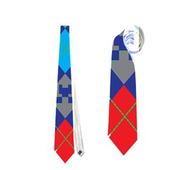 Minecraft Ugly Holiday Christmas Neckties (one Side)  by Onesevenart