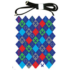 Minecraft Ugly Holiday Christmas Shoulder Sling Bags by Onesevenart