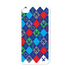 Minecraft Ugly Holiday Christmas Apple Iphone 4 Case (white) by Onesevenart