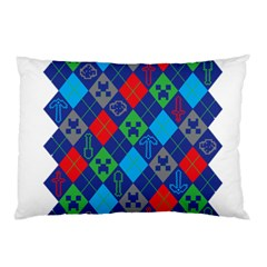 Minecraft Ugly Holiday Christmas Pillow Case (two Sides) by Onesevenart