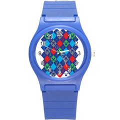Minecraft Ugly Holiday Christmas Round Plastic Sport Watch (s) by Onesevenart