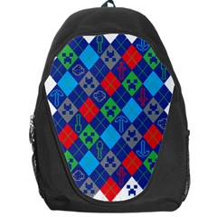 Minecraft Ugly Holiday Christmas Backpack Bag by Onesevenart