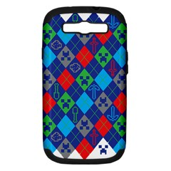 Minecraft Ugly Holiday Christmas Samsung Galaxy S Iii Hardshell Case (pc+silicone) by Onesevenart