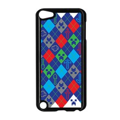 Minecraft Ugly Holiday Christmas Apple Ipod Touch 5 Case (black) by Onesevenart