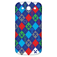 Minecraft Ugly Holiday Christmas Samsung Galaxy S3 S Iii Classic Hardshell Back Case by Onesevenart