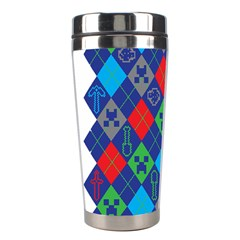 Minecraft Ugly Holiday Christmas Stainless Steel Travel Tumblers by Onesevenart
