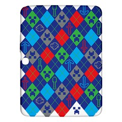 Minecraft Ugly Holiday Christmas Samsung Galaxy Tab 3 (10 1 ) P5200 Hardshell Case  by Onesevenart