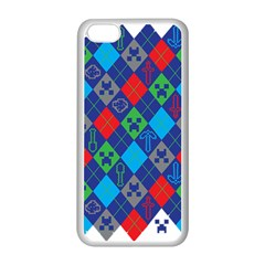 Minecraft Ugly Holiday Christmas Apple Iphone 5c Seamless Case (white) by Onesevenart