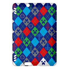 Minecraft Ugly Holiday Christmas Kindle Fire Hdx Hardshell Case by Onesevenart