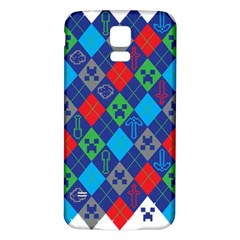 Minecraft Ugly Holiday Christmas Samsung Galaxy S5 Back Case (white) by Onesevenart