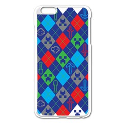 Minecraft Ugly Holiday Christmas Apple Iphone 6 Plus/6s Plus Enamel White Case by Onesevenart