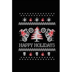 Motorcycle Santa Happy Holidays Ugly Christmas Black Background 5 5  X 8 5  Notebooks by Onesevenart