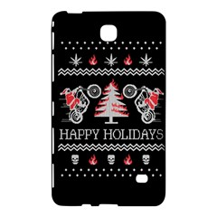 Motorcycle Santa Happy Holidays Ugly Christmas Black Background Samsung Galaxy Tab 4 (8 ) Hardshell Case  by Onesevenart