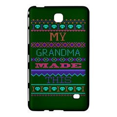 My Grandma Made This Ugly Holiday Green Background Samsung Galaxy Tab 4 (8 ) Hardshell Case  by Onesevenart