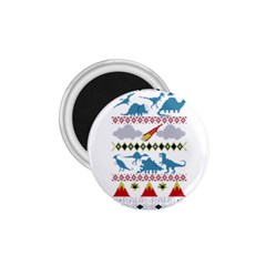 My Grandma Likes Dinosaurs Ugly Holiday Christmas 1 75  Magnets by Onesevenart