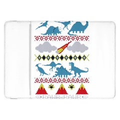 My Grandma Likes Dinosaurs Ugly Holiday Christmas Samsung Galaxy Tab 8 9  P7300 Flip Case by Onesevenart