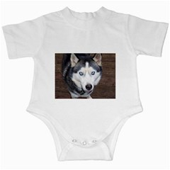 Siberian Husky Blue Eyed Infant Creepers by TailWags