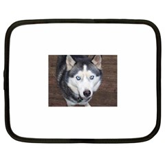 Siberian Husky Blue Eyed Netbook Case (XL)  by TailWags