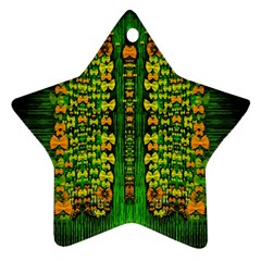 Magical Forest Of Freedom And Hope Ornament (star)  by pepitasart