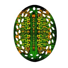 Magical Forest Of Freedom And Hope Oval Filigree Ornament (2 Side)  by pepitasart