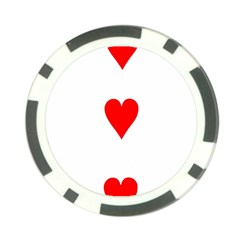 Cart Heart 03 Tre Cuori Poker Chip Card Guards (10 pack)  by AnjaniArt