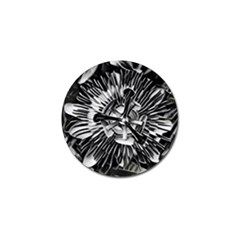 Black And White Passion Flower Passiflora  Golf Ball Marker (4 Pack) by yoursparklingshop